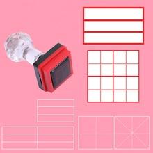 Tianzi Ge seal Pinyin English four-line unit Mi word grid teacher teaching correction photosensitive customizable