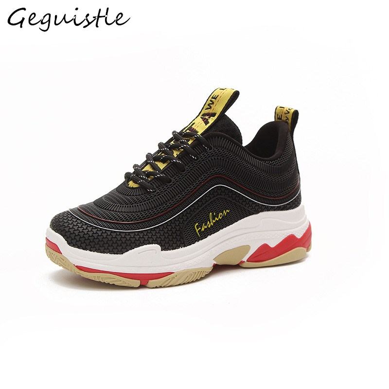 New Style Personality Women Sneakers Breathable Fashion Women Shoes Comfortable Lace-Up Casual Shoes glowing sneakers usb charging shoes lights up colorful led kids luminous sneakers glowing sneakers black led shoes for boys