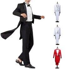 Oeak, классический официальный мужской смокинг, блейзеры, костюм, набор, однотонный, с блестками, фрак, смокинг, свадебные костюмы для жениха, наборы, мужской сценический костюм, Новинка