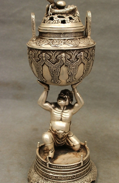 free shipping 12 marked tibet silver dragon japan vajra devil