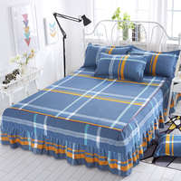Bedcover Contain two pillowcase Bedspread bedclothes, Fashion Cotton bed skirt, bed sheet, bed skirt1.2/ 1.8/1.5/2.0m meters.