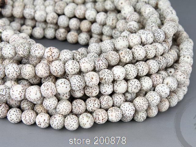 BRO968 Buddhist 108 Bleached white Starmoon Lotus Bodhi Seeds Rosary 9mm for man Bodhi Prayer MalaNecklace