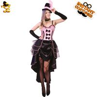 DSPLAY Black Sexy Burlesque Babe Fancy Dress Carnival Woman New Style Deluxe Classic Dancer Outfit Mystic Stripper Party Costume