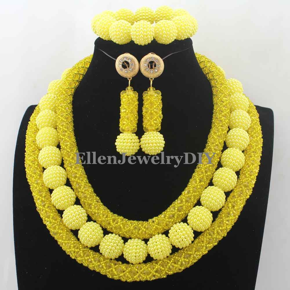 Yellow Crystal Bridal Jewelry Sets African beads Jewelry Beads Nigerian Wedding Beads Jewelry Set Christmas GiftW12988Yellow Crystal Bridal Jewelry Sets African beads Jewelry Beads Nigerian Wedding Beads Jewelry Set Christmas GiftW12988