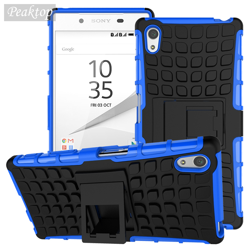 <font><b>Case</b></font> For <font><b>Sony</b></font> <font><b>Z5</b></font> Cover Shockproof Rubber & Hybrid Plastic Cover For <font><b>Sony</b></font> <font><b>Xperia</b></font> <font><b>Z5</b></font> E6603 E6633 <font><b>E6653</b></font> Phone Holder Stand <font><b>Case</b></font> image