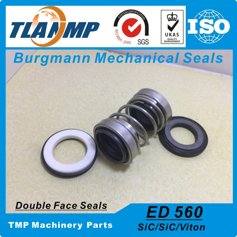 560D 30 Burgmann Double face Mechanical Seals ED560 30 Dual seal For Pump Material CE CA