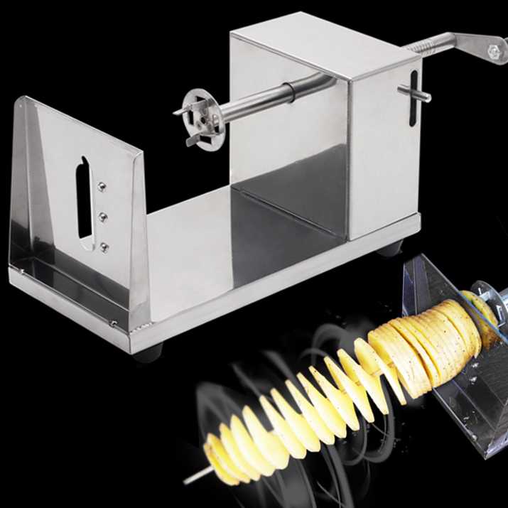 Stainless steel manual Tornado potato cutter Twisted potatoes slicer spiral French Fries cutting chips machine Hot Dog Chopper цена и фото