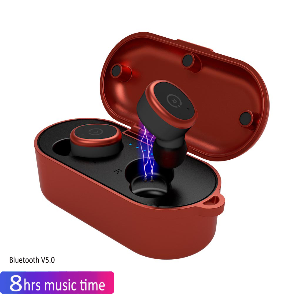 New BLuetooth Earphone Port Cordless Wireless 3D Earbuds Stereo In Ear Bluetooth 5.0 Ipx8 Waterproof Wireless Ear Buds Earphone new mini bluetooth earphone wireless earbuds stereo in ear bluetooth 5 0 waterproof wireless ear buds earphone 2200ma power bank