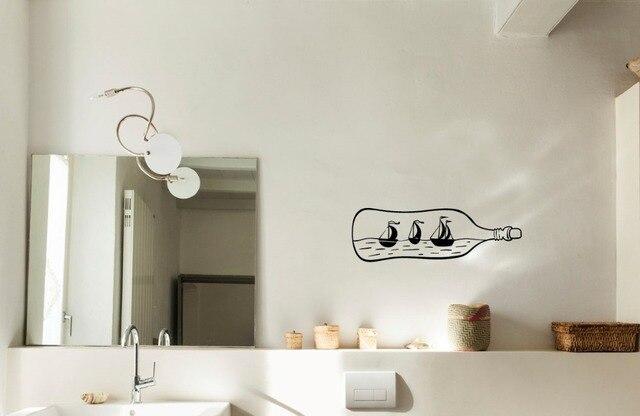 Poster Murali Per Camere Da Letto : Drift bottle wall decorazione della casa della decalcomania per