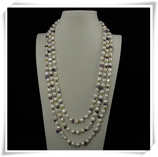 Unique Pearls jewellery Store,200cm Long Multicolor Jaspers White Freshwater Pearl Necklace,Charming Women GiftUnique Pearls jewellery Store,200cm Long Multicolor Jaspers White Freshwater Pearl Necklace,Charming Women Gift