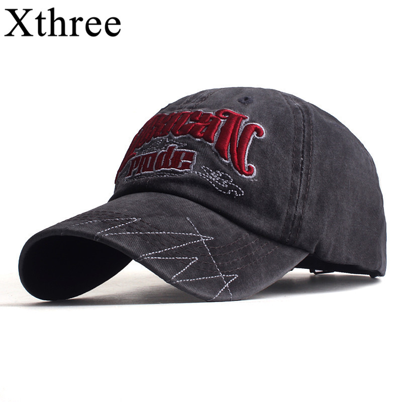 Xthree Men's baseball caps for men women hat snapback embroidery letter casual cap casquette dad hat hip hop hat