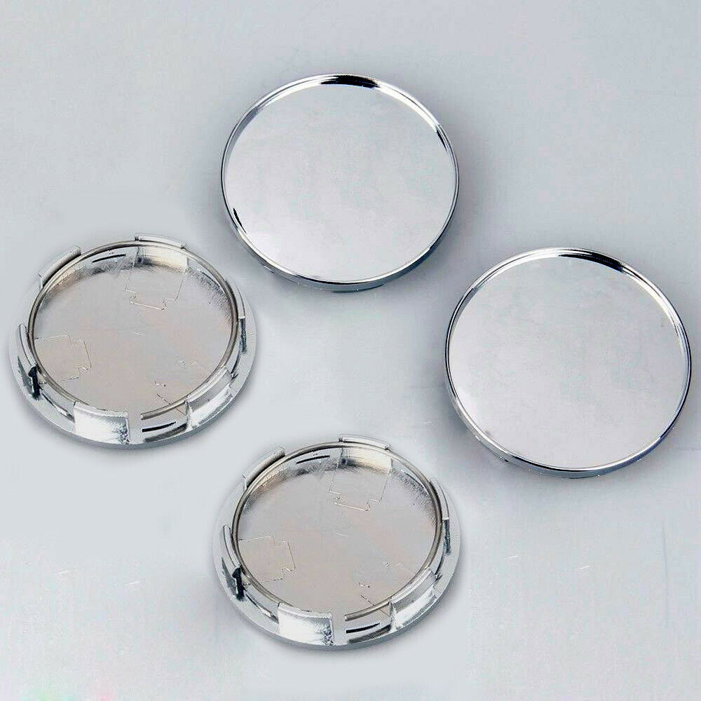 4x/kit Chrome Silver Car Vehicle Wheel Center Hub ABS Cap Cover 68MM Decoration-in Car Covers from Automobiles & Motorcycles