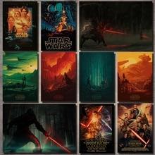 """Серия Звездных войн, киноплакаты, крафт-наклейки на стену, плакаты Дарт Вейдер, черный Постер """"Воин"""", винтажные наклейки на стену"""