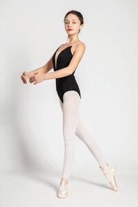 Image 5 - Bale Mayoları Yetişkin Yeni Stil Siyah Seksi Rahat Uygulama Dans Elbise Kadın Jimnastik Leotard Ucuz Bale Dans Giyim