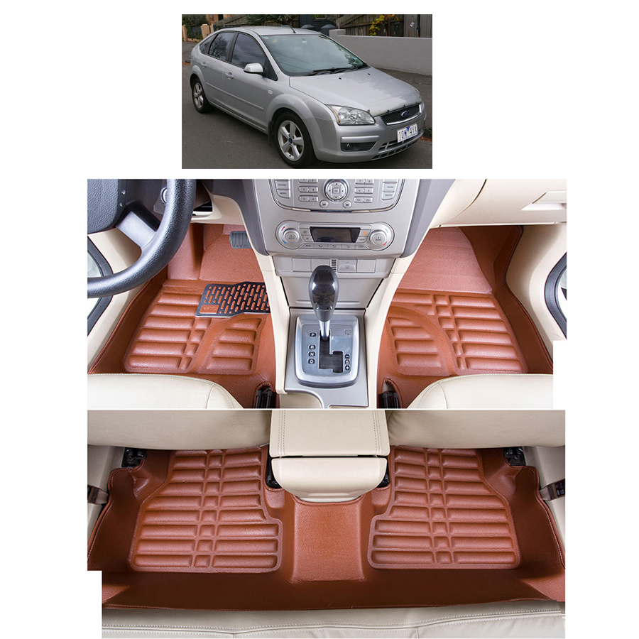 fast shipping waterproof fiber leather car floor mats for ford focus mk2  2004 2010 2009 2008 2006 2005 2007 дефлектор капота novline темный ford focus 2008 2010 nld sfofo30812
