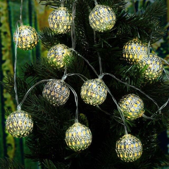 warm white 4m 12 led string lighting wedding fairy christmas lights outdoor hollow ball globe christmas