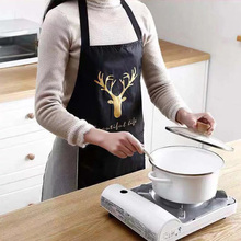 Women aprons creative printed Funny kitchen apron with pocket hand towel hot household cleaning accessories cooking