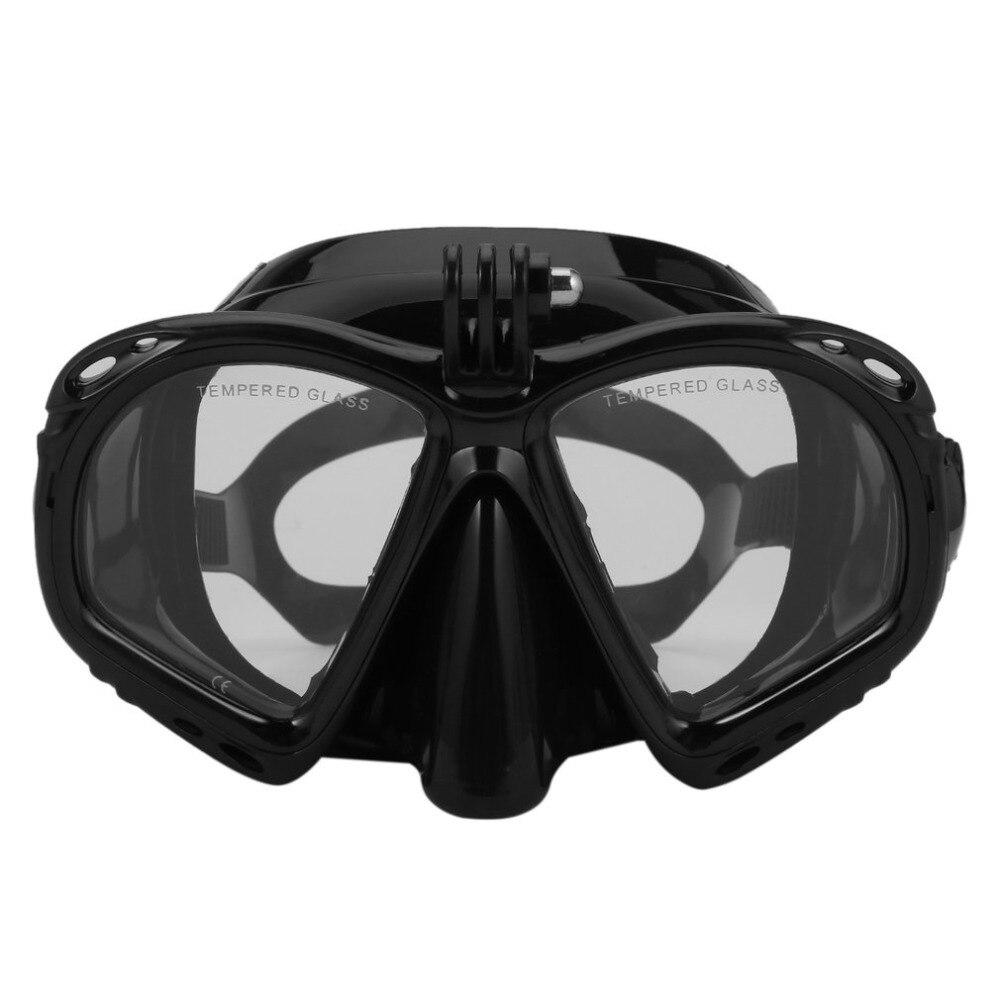 Bajo el agua profesional Cámara máscara de buceo Snorkel natación gafas de alto rendimiento adecuado para la mayoría de los deportes cámaras