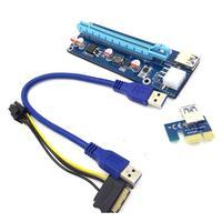 2017 Hot Sale USB3 0 PCI E Express 1x To 16x Extender Riser Card Adapter SATA