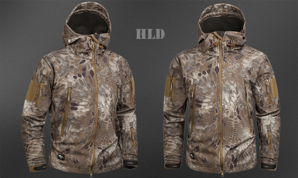 Men's Military Camouflage Fleece Jacket Army Tactical Clothing 50