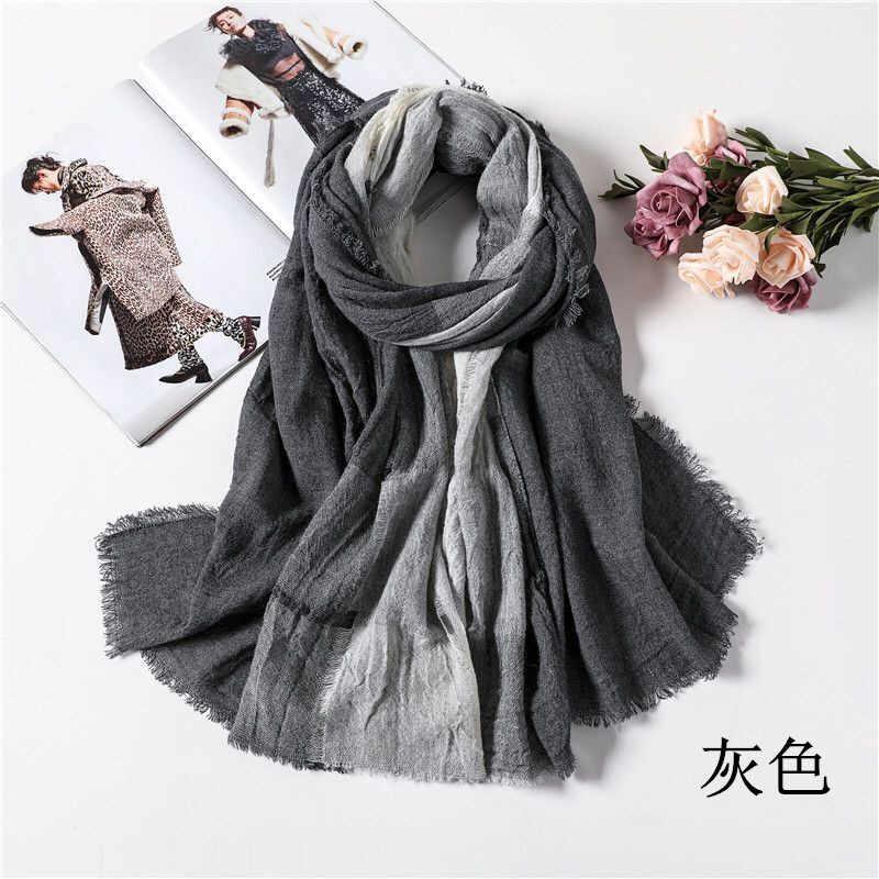 和風冬 Bufandas メンズスカーフファッションチェック柄ブランドスカーフ暖かいソフトショール綿の房のスカーフ