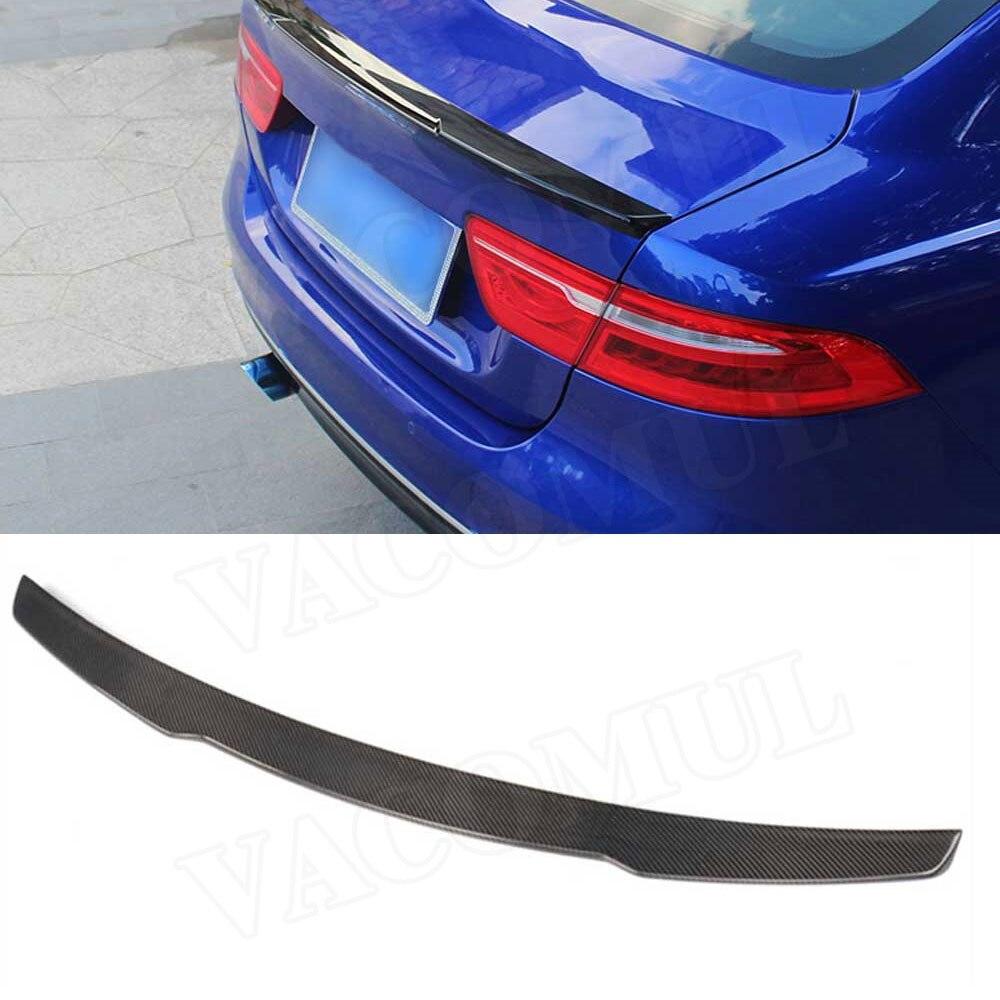 Carbon Fiber / ABS Rear Spoiler for Jaguar XE Sedan 4-Door 2015-2018 K Style Boot Trunk Trim Sticker Wings Car Styling