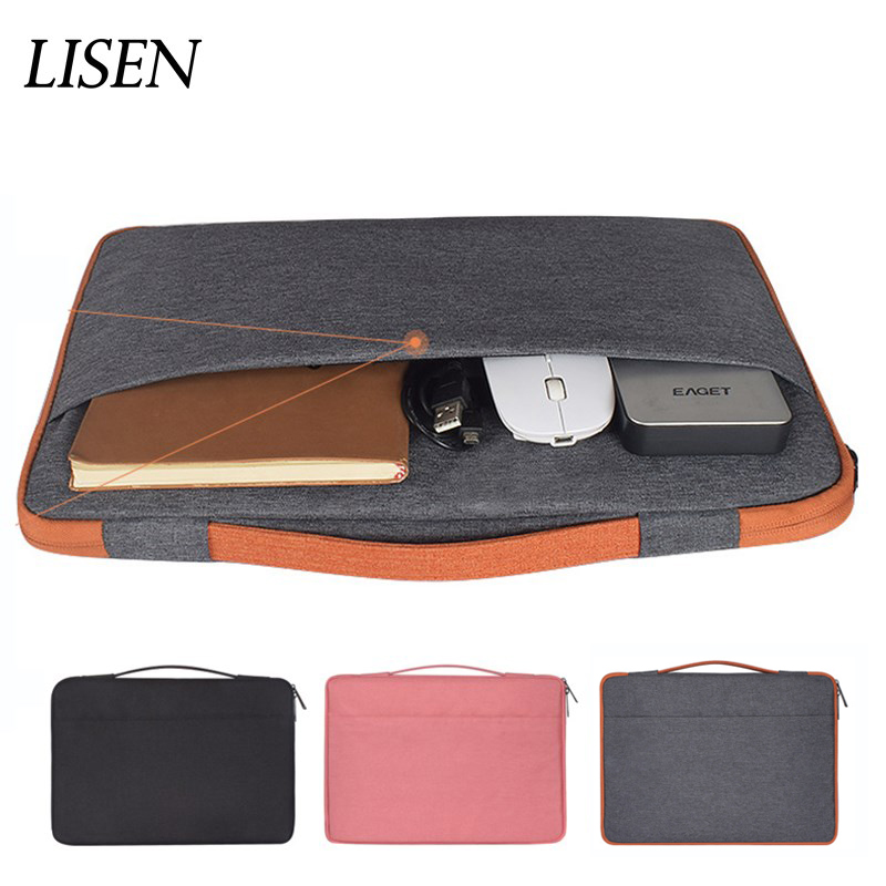 Nylon Laptop Sleeve Notebook Bag Pouch Case for Macbook Air 11 13 12 15 Pro 15.4 15.6 Retina Unisex Liner Sleeve for Xiaomi Dell laptop sleeve genuine leather black gray laptop sleeve 11 12 13 14 15 notebook cover for xiaomi air 3 lenovo yoga dell laptops