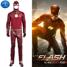 The Flash Cosplay Costume Barry Allen Suit The Flash Season 2 Barry Allen Costume Superhero Outfit With Boots Adult Men