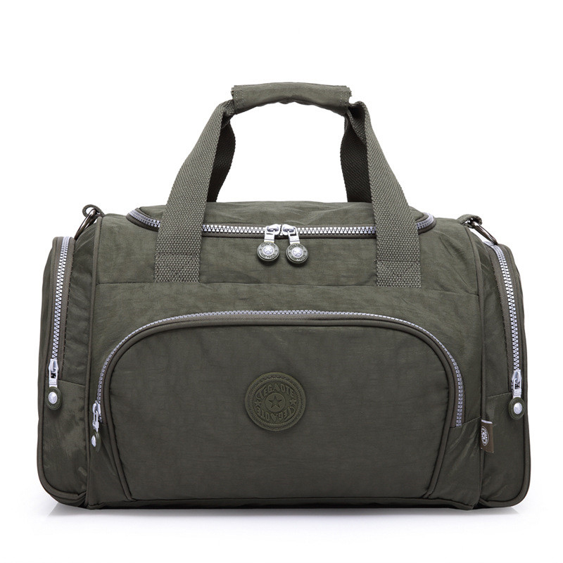 все цены на 2018 Brand Men Travel Bags Large Capacity Female Women Luggage Travel Duffle Bags Male Nylon Travel Handbag Folding Trip Bag онлайн