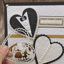Wedding Cards Heart Metal Cutting Dies For DIY Scrapbooking Album Birthday Card Anniversary Day Gift Decoration