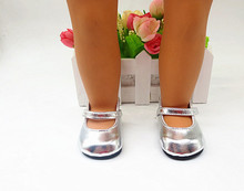 18 American girl dolls of the shoes Leather shoes, sandals, high heels children Christmas gift free shipping X21