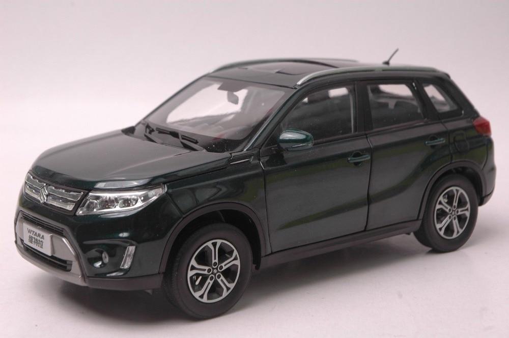 1:18 Diecast Model for Suzuki Vitara 2016 Deep Green SUV Alloy Toy Car Miniature Collection Gifts Gran