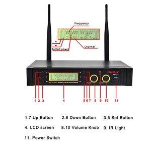 Image 4 - Freeboss FB U11 UHF Wireless Microphone System 2 way 100 Channels IR Frequency Wireless Mic Karoke KTV Party Dynamic Microphone