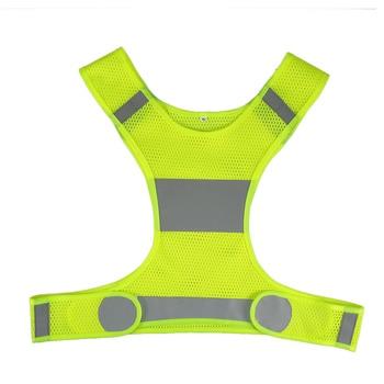 3d1b559d5b5 Chaleco de seguridad chaleco reflectante para correr al aire libre seguridad  ajustable alta visibilidad reflectante ropa de trabajo noche ciclismo
