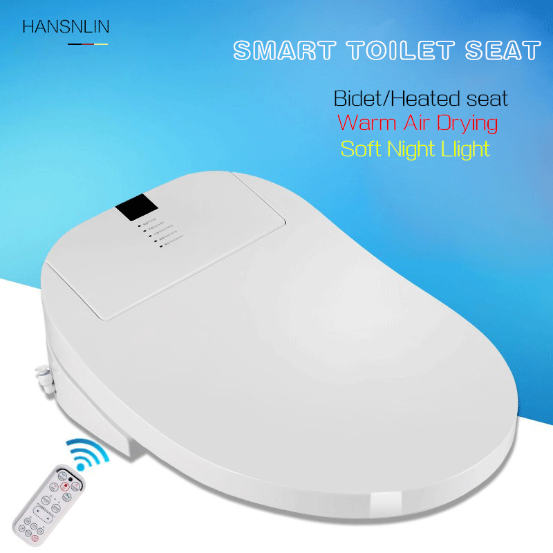 Automatic toilet seats remote control intelligent electronic bidets Instant Hot saet cover led light drying heating