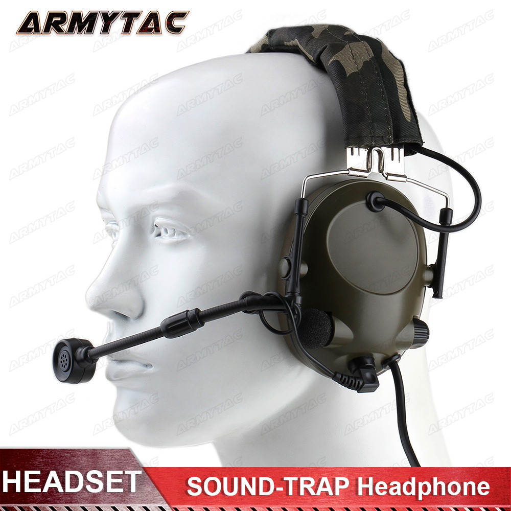 Z-Tactique Z042 Peltor Son-Piège Casque Militaire Version Combat Microphone Airsoft Paintball Chasse Protection Auditive