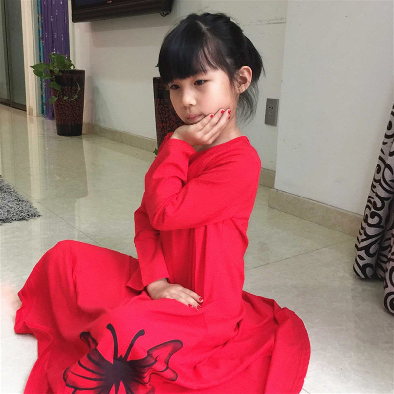 Nightgowns for Girls Cotton Long Nightdress autumn sleep Nightwear Girl Robe children s font b lounge