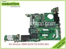 55.4J301.061 For lenovo 3000 G230 Laptop motherboard intel GM45 DDR2 Mainboard full tested board