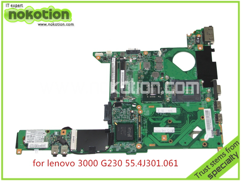 NOKOTION 55.4J301.061 For lenovo 3000 G230 Laptop motherboard intel GM45 DDR2 Mainboard full tested board 41w1389 hdl20 la 3281p for lenovo 3000 c200 laptop motherboard intel 945gm ddr2 mainboard full tested