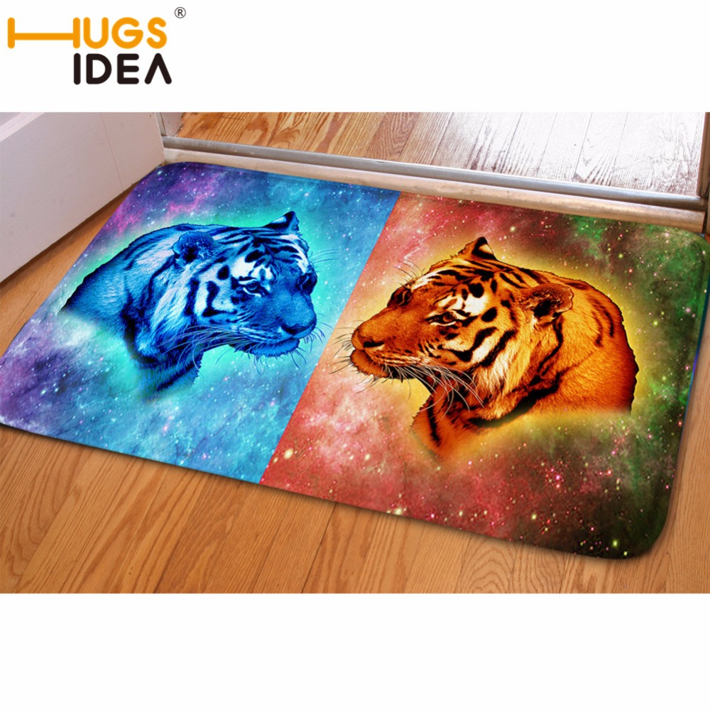 HUGSIDEA Floor Rug Flannel Carpet Doormat Living Room Mat