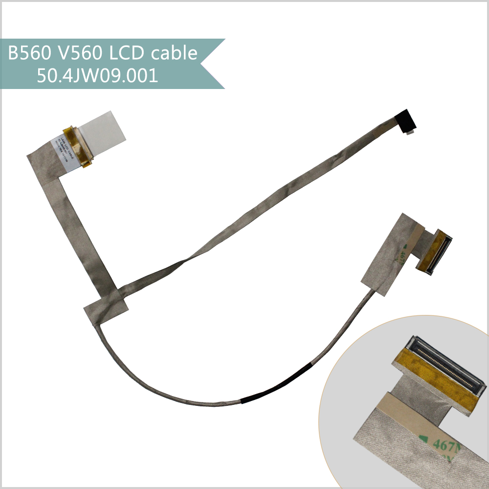 NEW LCD LED LVDS cable for Lenovo B560 V560 laptop screen display cable 50.4JW09.001 for thinkpad x1 carbon led lcd laptop screen b140xtn02 5 1366x768 lvds 40pin original new