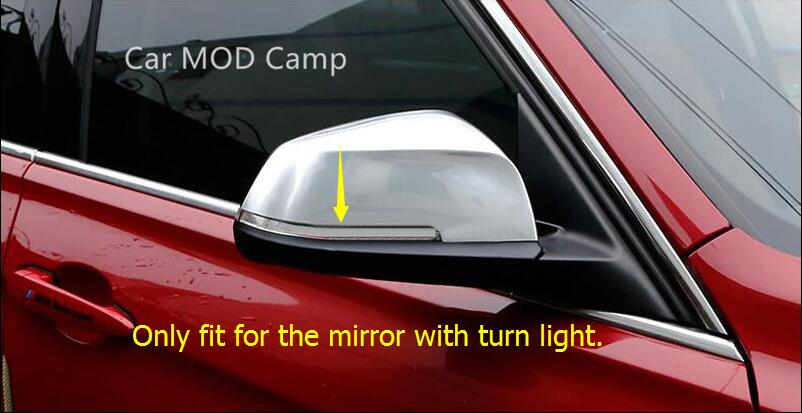 For BMW 1 Series F20 2012-2017 / BMW 2 Series Coupe F22 2014-2017 ABS Rearview Car Side Door Mirror Cover Trim 2pcs Car Styling! f20 carbon fiber replace car mirror cover cap trim for bmw f20 auto styling 2012 2014