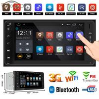VODOOL 7 2 Din Android Car Stereo MP5 Player GPS Navigator Bluetooth 3G WiFi AM/FM Radio Autoradio with Mirror Link Function