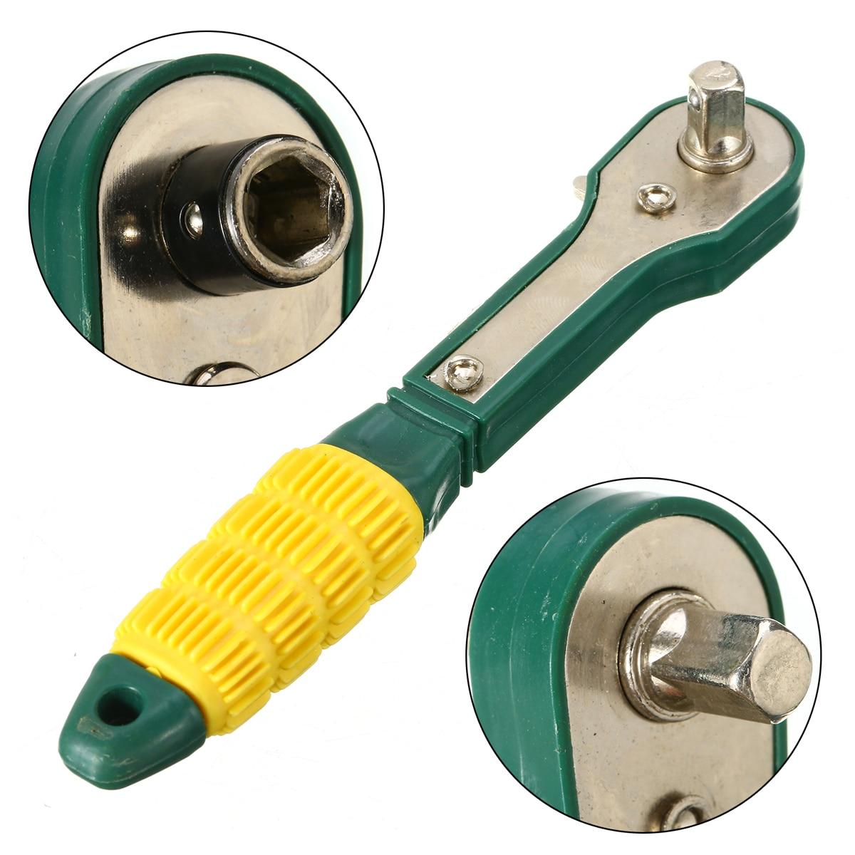 Sheet Metal Tools Set 1pc Mini Rapid Ratchet Socket Wrench 1/4 Head Anti Rust Screwdriver Quick Spanner For DIY Repairing