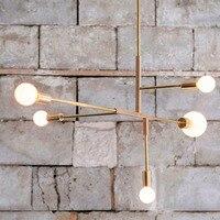 LED Pendant Lights E27 Gold Nordic Modern living room bedroom dinning room hanglampen voor eetkamer LED Lamp Edison bulb light