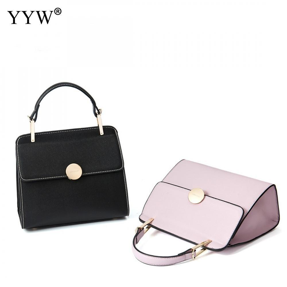 2017 décontracté poignée en métal petits sacs à main Hotsale Laides sac à main célèbre marque femmes soirée pochettes rose noir en cuir sac à main