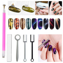 Double Head Magnet Stick Tool For 3D Magnetic Cat Eye Gel Magic Nail Art Manicu(China)