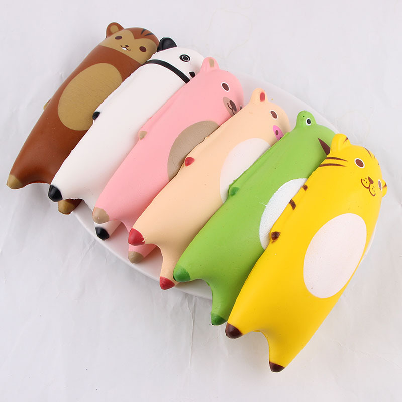 Jumbo Squishy Cartoon Hand Pillow Bread Soft Slow Rising Pendant Phone Straps Stretchy Squeeze Scented Cake Kid Toys Xmas Gifts