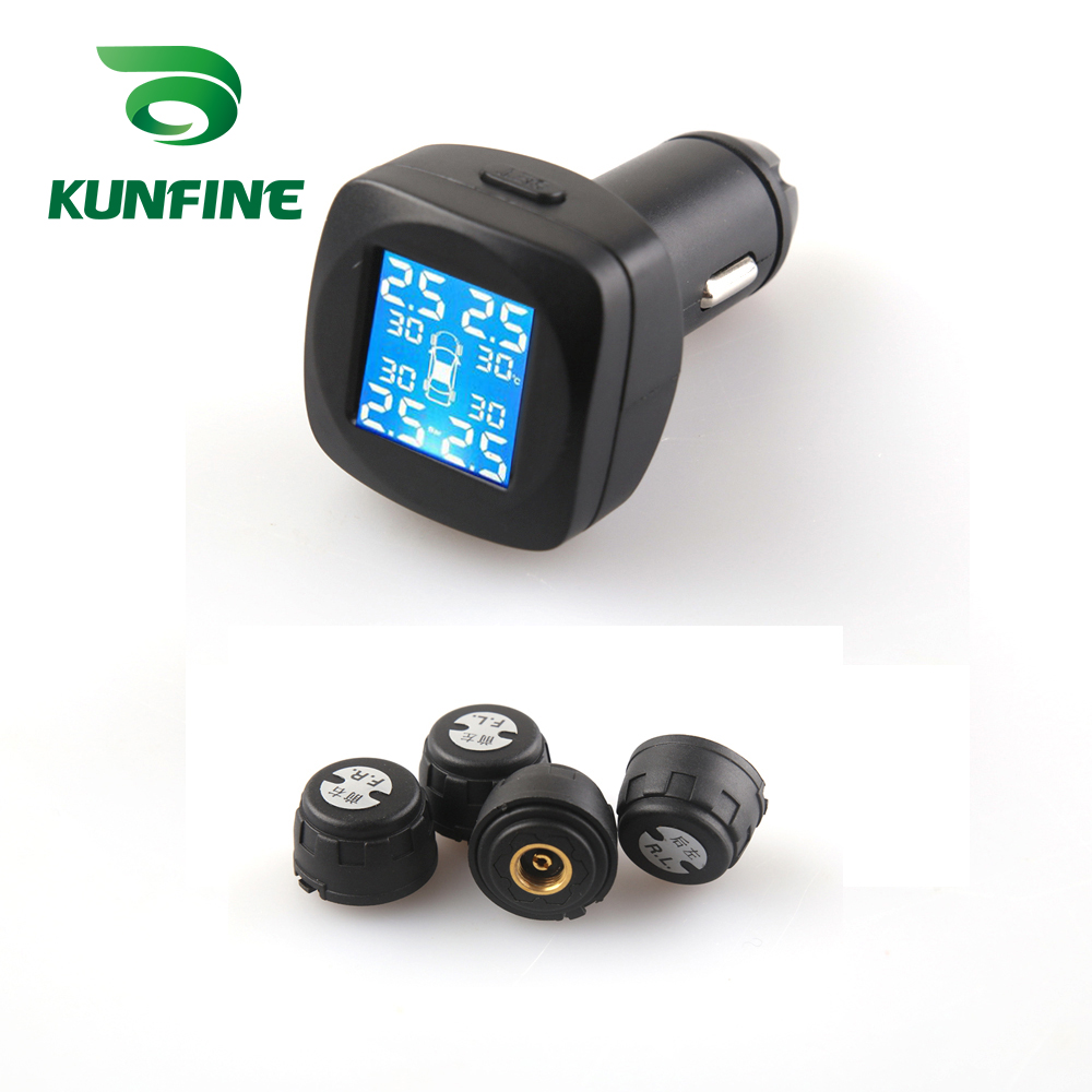 Smart Car TPMS Tyre Pressure Monitoring System cigarette lighter Digital LCD Display Auto Security Alarm Systems (4)