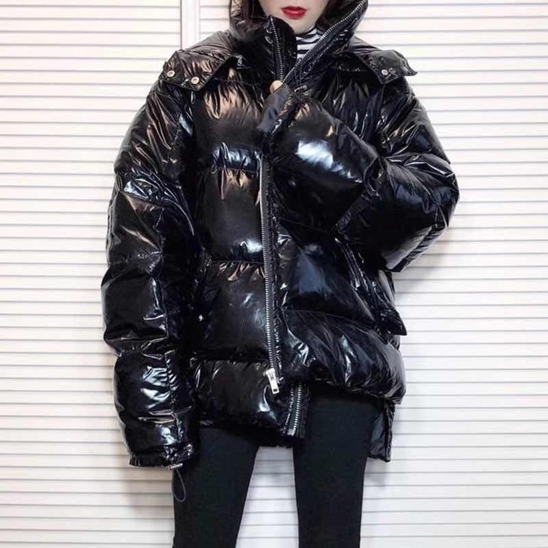 036965d46 Oversize Down Jacket Thicken White Duck Down Coat Women Winter ...